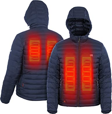 Mobile Warming Mens Summit Duck Down Heated Jacket