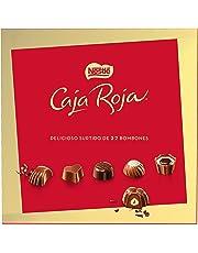 NESTLÉ CAJA ROJA Surtido de bombones de chocolate con leche, negro y blanco -