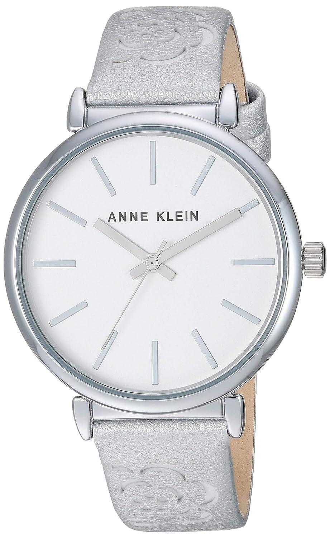 Anne Klein Women s Floral Leather Strap Watch
