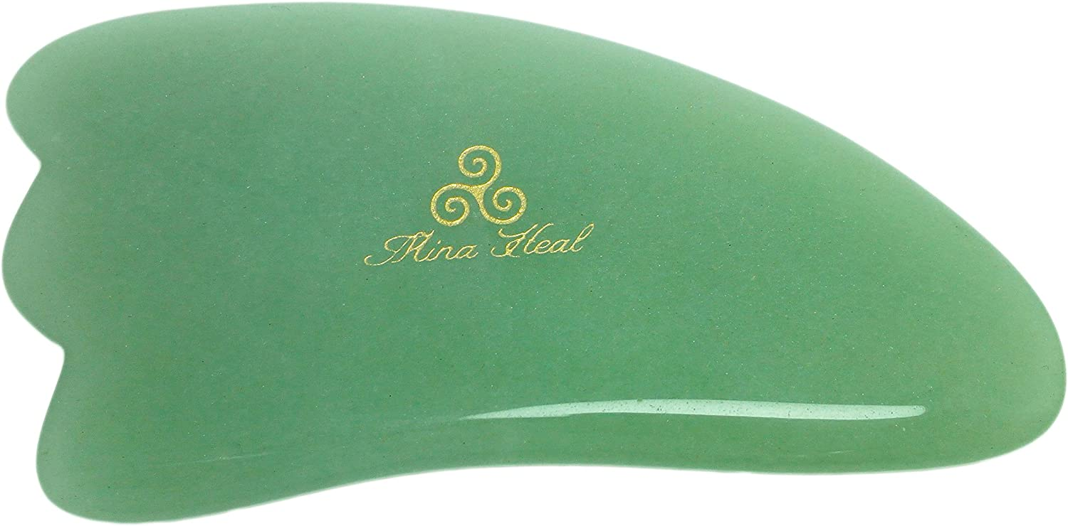 Jade Massage Tool Made of Natural Stone with 3-corners, for Facial Lifting, Anti-aging, Anti-wrinkle Massage & Facial Gua Sha