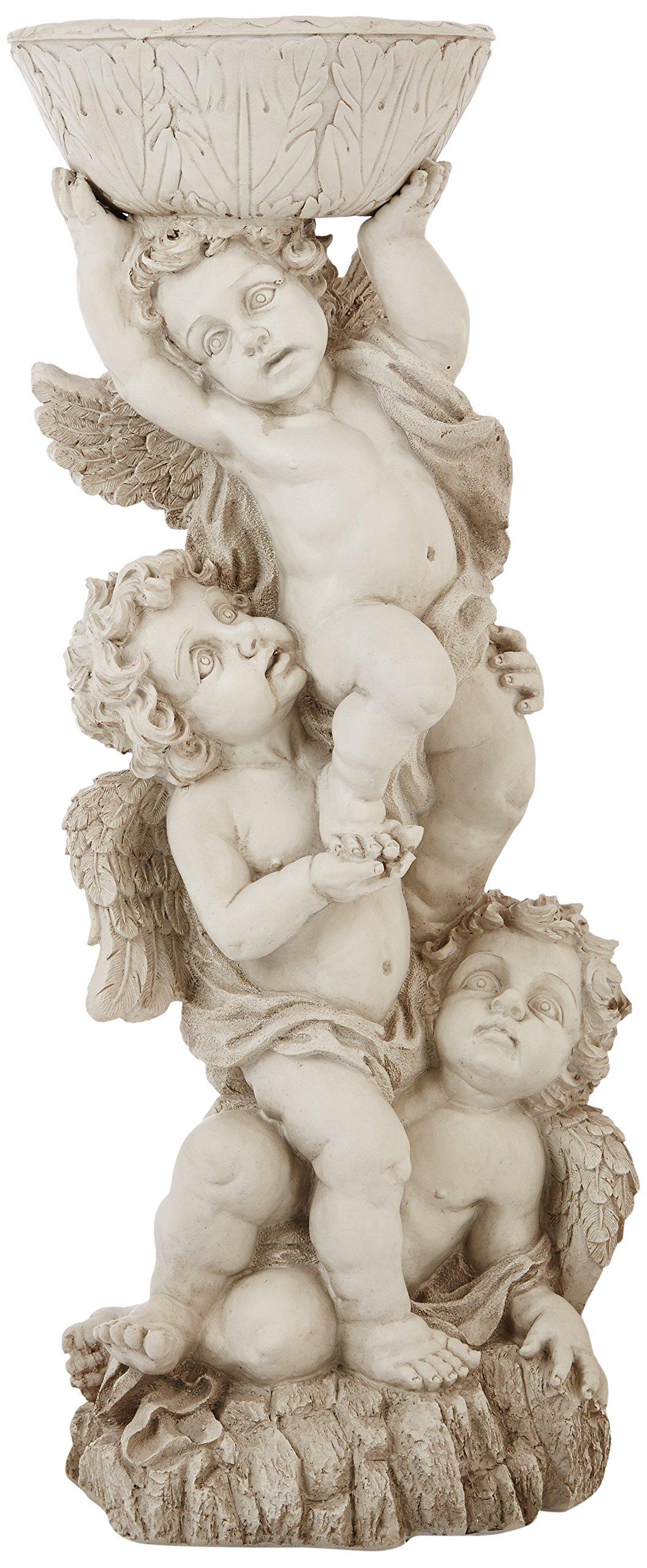 Design Toscano Three Cherubs with Urn Statue