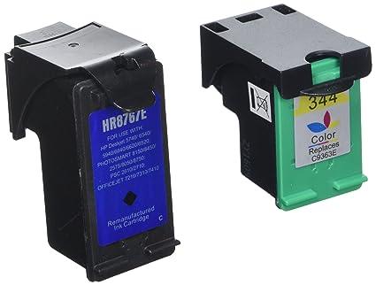 PerfectPrint - 2 cartuchos de tinta de impresora compatible HP 339 344 para Deskjet D1660 D2560 D2660 D5560 F2420 F2423 F2430 F2476 F2480 F2483 F2488 ...