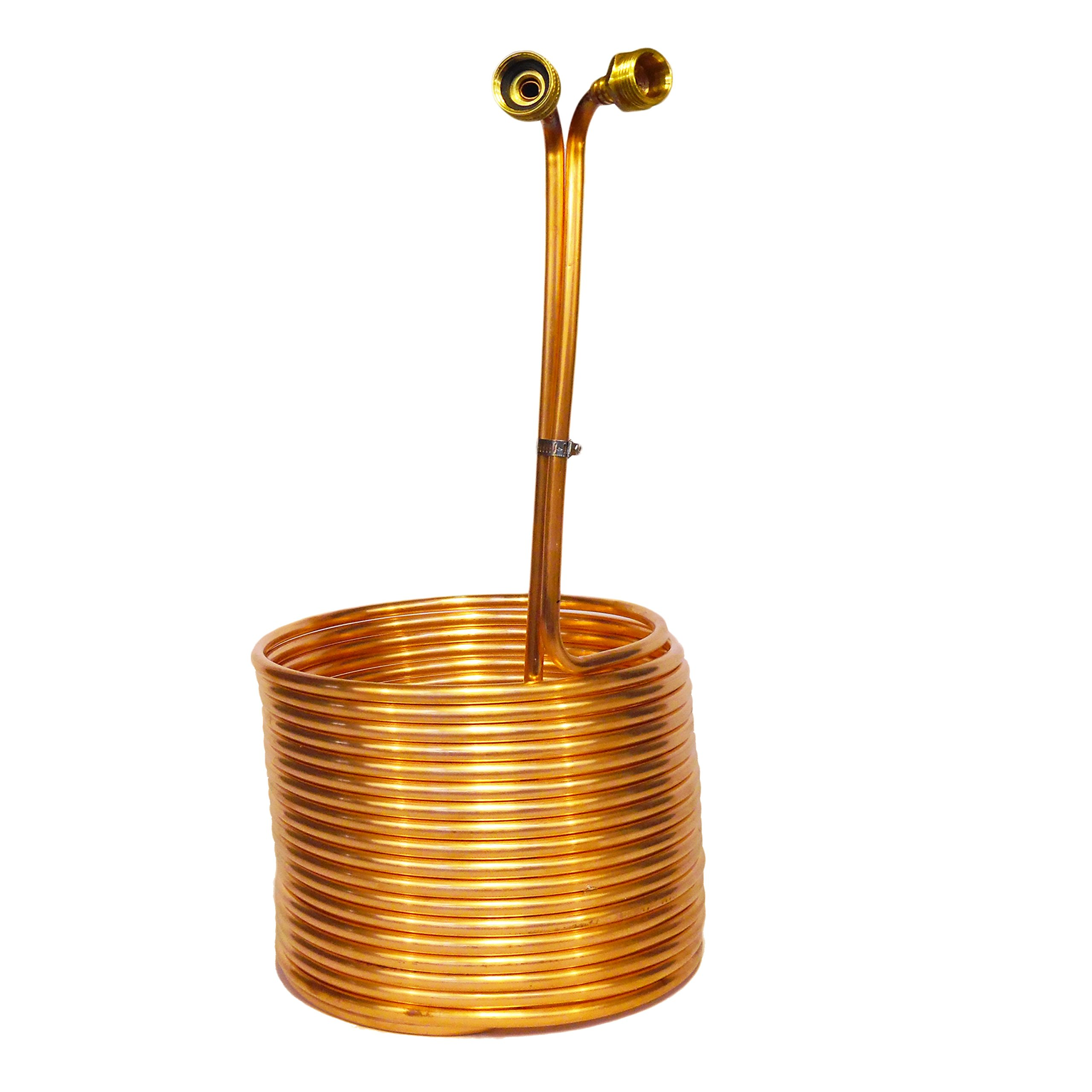 Copper Coil Immersion Chiller 50 Feet Length by Learn To Brew LLC