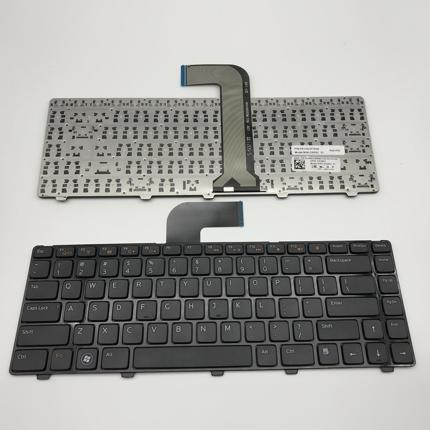 Sierra Blackmon Replacement Keyboard Non-backlit for Dell INSPIRON 14R N4110 M4110 N4050 M4040 M5040 M5050 N5040 N5050 N4410 M411R VOSTRO 3450 3550 V3450 V3550 XPS X501L x502L L502 series Black US Lay