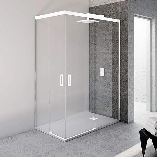 VAROBATH.Mampara de ducha rectangular sin perfil inferior con ...