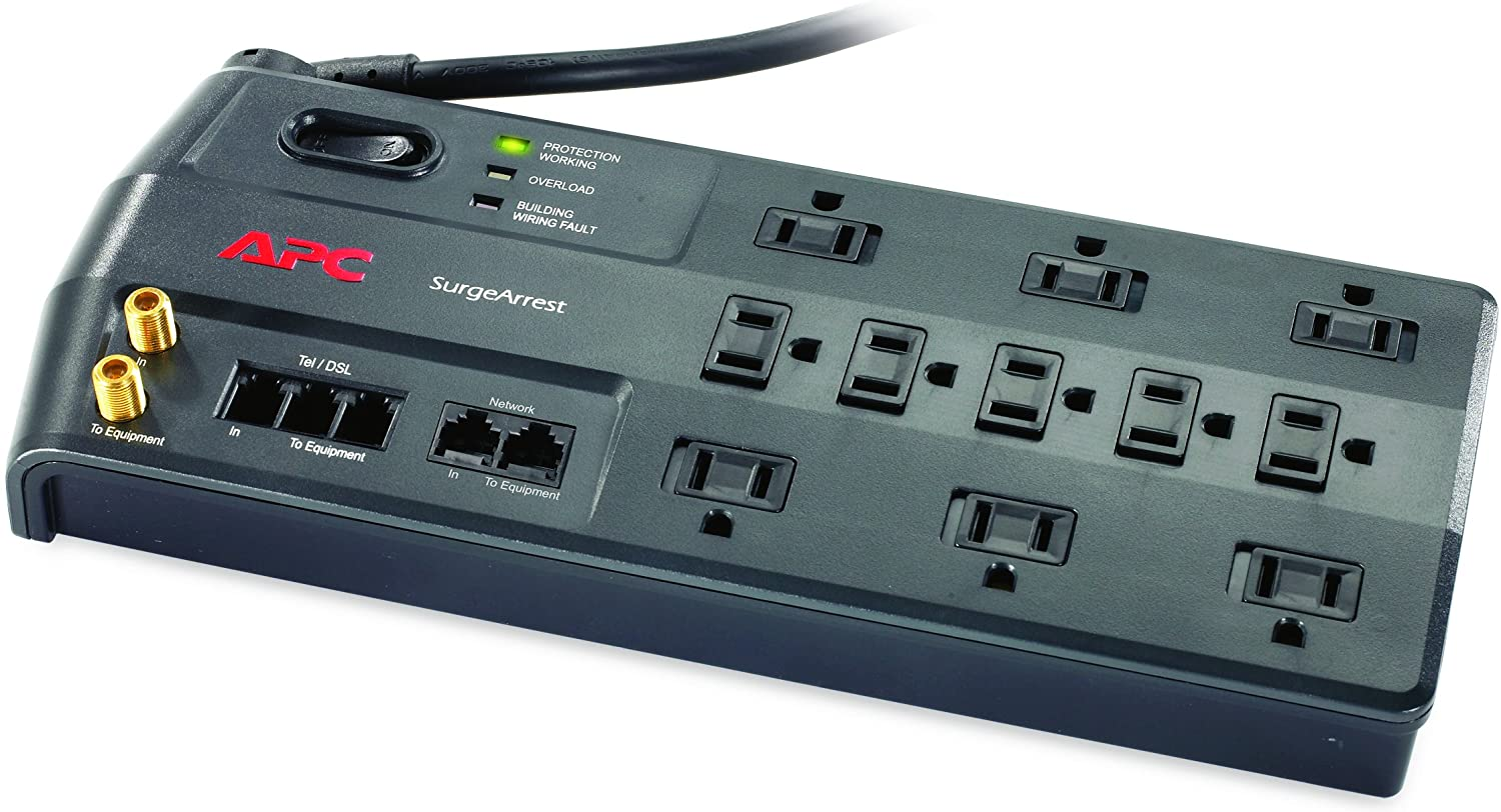 APC R SurgeArrest Performance APC 12-Outlet Surge Protector Power Strip with USB Charging Ports P12U2 4320 Joules