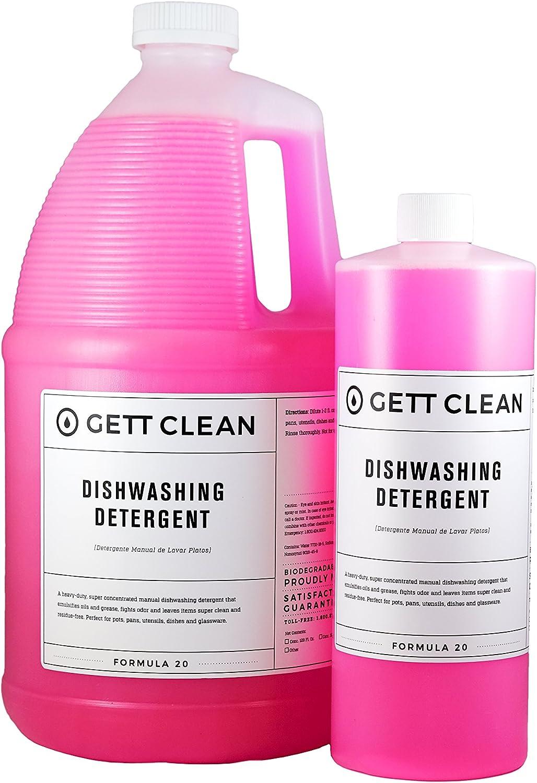 GETT limpiar lavar platos detergente líquido, 1 L, concentrado ...