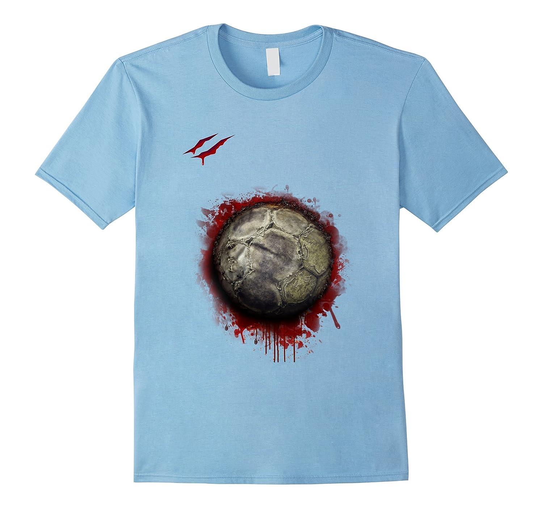 zombie soccer player tshirt halloween 2017-FL