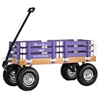 "Berlin Flyer Sport Wagon - Model F410 - Amish Made in Ohio, USA - 10"" No-Flat Tires (Purple)"