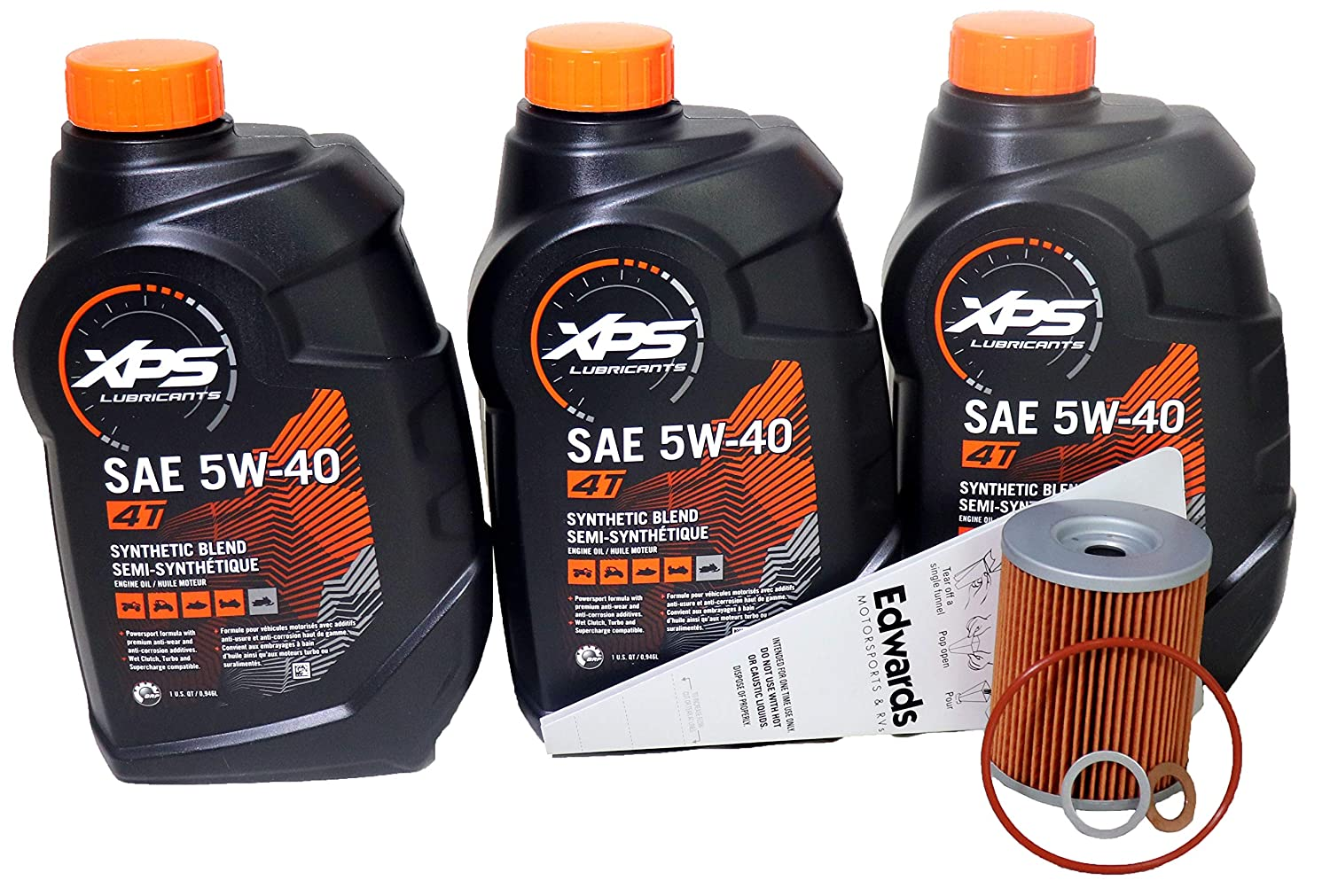 Synthetic Oil Change >> Amazon Com Can Am Xps 4 Stroke Semi Synthetic Oil Change