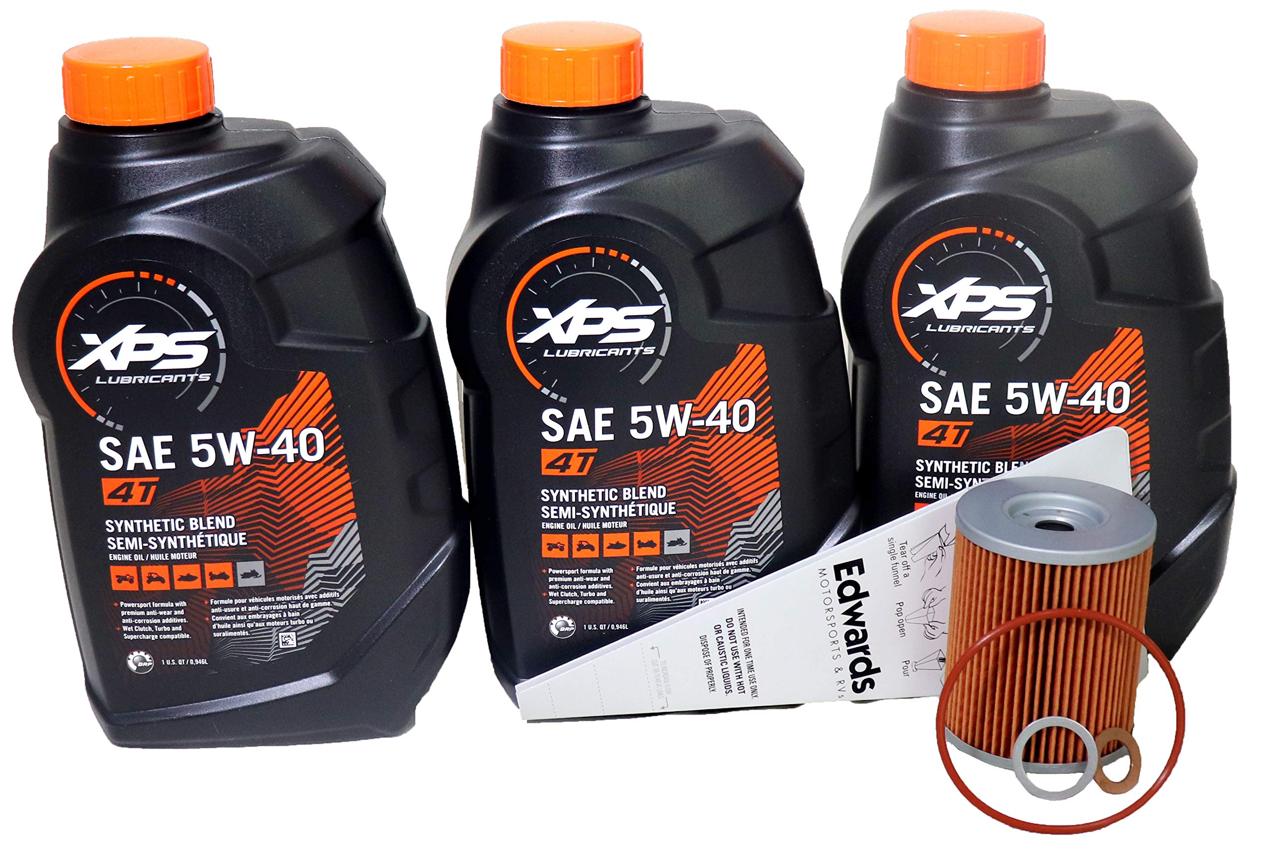Can-Am XPS 4-Stroke Semi Synthetic Oil Change Kit for Can-Am Maverick 1000R 2013-2019