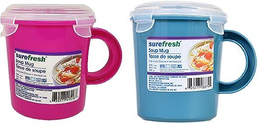 SureFresh Taza de Cocina para microondas con Tapa de ventilación ...