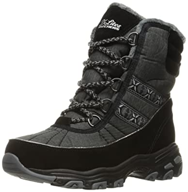 Women's D'Lites-Chateau-Lace up Winter BootBlack Heathered7 M US