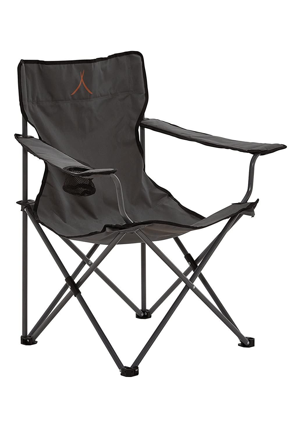 Grand Canyon Director- silla de camping plegable, acero, gris/negra, 308011