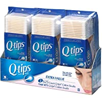 Q-tips Cotton Swab, 625 Count Pack of 3 (1875 Swabs Total)