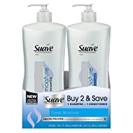 Suave Professionals Deep Moisture Shampoo and Conditioner Set, 28 Fluid Ounces each