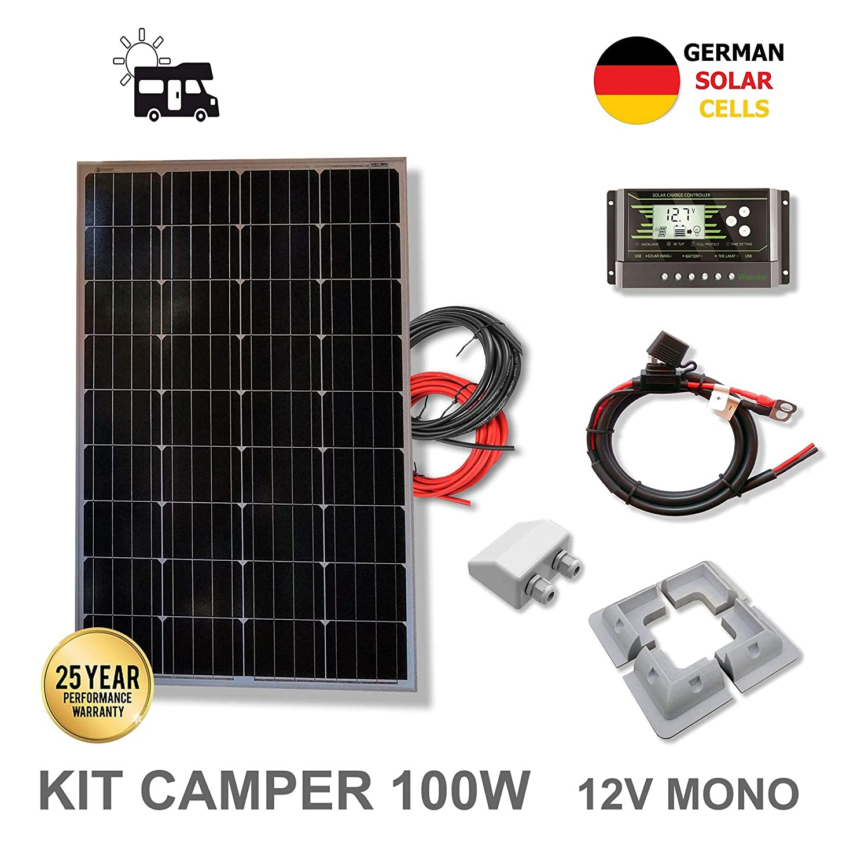 VIASOLAR Kit 100W Camper 12V Panel Solar monocristalino células ...