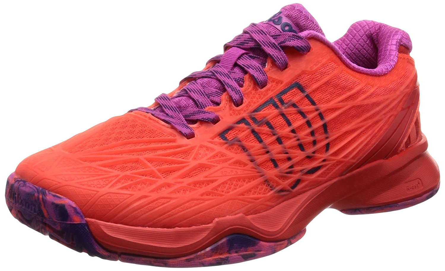 Wilson Kaos Womens Tennis Shoe B01K5IR662 10 B(M) US|Fiery Coal/Fiery Red/Rose