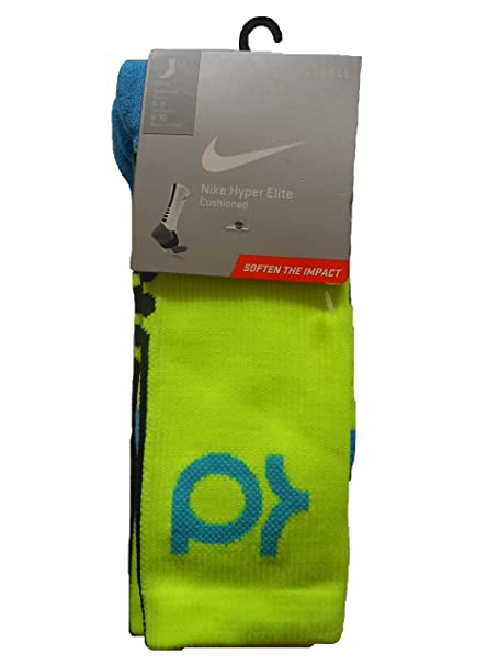 Amazon.com: Nike Hyper Elite Cushioned Baloncesto Calcetines ...