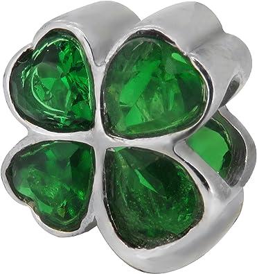 charm pandora quadrifoglio verde