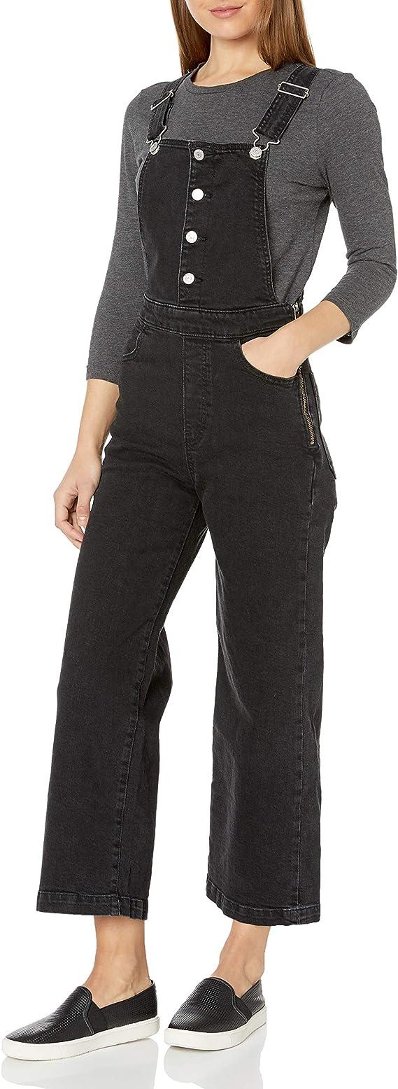 Levi's 李维斯 女式高腰阔腿牛仔背带裤 3折$26.73 海淘转运到手约¥247
