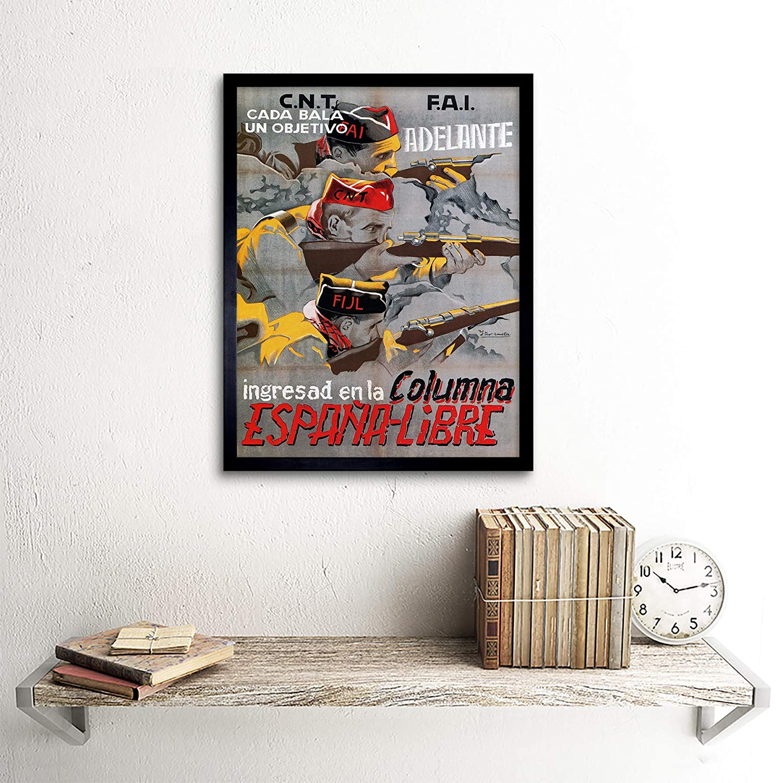 Amazon.com: Wee Blue Coo War Propaganda Spanish Civil Cnt FAI Republican Spain Vintage Unframed Wall Art Print Poster Home Decor Premium: Home & Kitchen