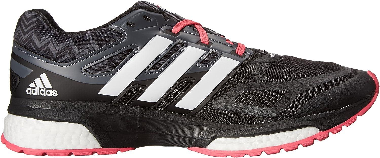 adidas Performance Response Boost Techfit - Zapatillas de correr para mujer, Negro (Núcleo negro/blanco/rosa neón.), 39 EU: Amazon.es: Zapatos y complementos
