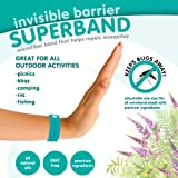 NEW Invisible Barrier Superband - ALL NATURAL Microfiber Insect Repelling Wristband 5 Pack (Blue)