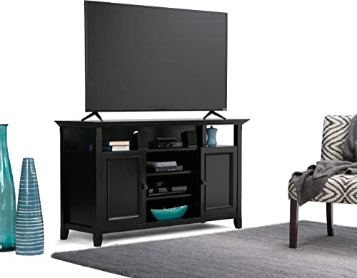 SIMPLIHOME Amherst SOLID WOOD Universal TV Media Stand