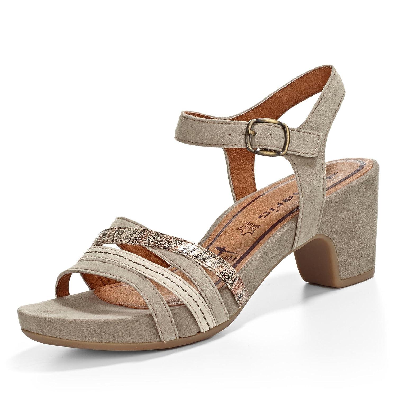Tamaris 28328 Damen Knöchelriemchen Sandalen mit Keilabsatz