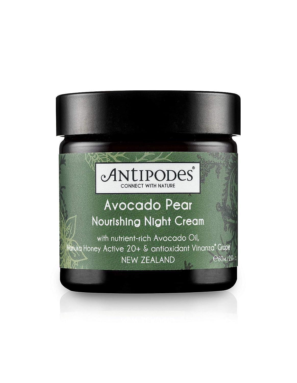 Antipodes crema de noche nutritiva con aguacate y pera, 60 ml.