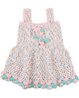 Kuchipoo Girls Hand knitted Frock (KUC-FRK-106_Multicolour_2 to 3 Years)