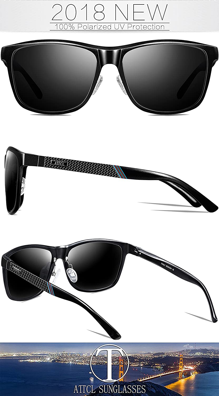aa2a933604 ATTCL Men s Driving Polarized Wayfarer Sunglasses Al-Mg Metal Frame Ultra  Light