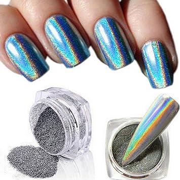 holographique arc,en,ciel Licorne Miroir Argenté Chrome Changement de  couleur Vernis à ongles