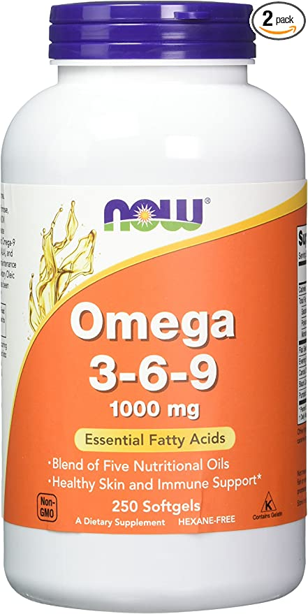 Amazon Com Now Foods Omega 3 6 9 1000 Mg 250 Softgels Pack Of 2