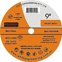 "9"" 230MM CUTTING DISC WHEEL THIN ANGLE GRINDER CUT OFF METAL STEEL FLAP (BOX QTY: 20)"