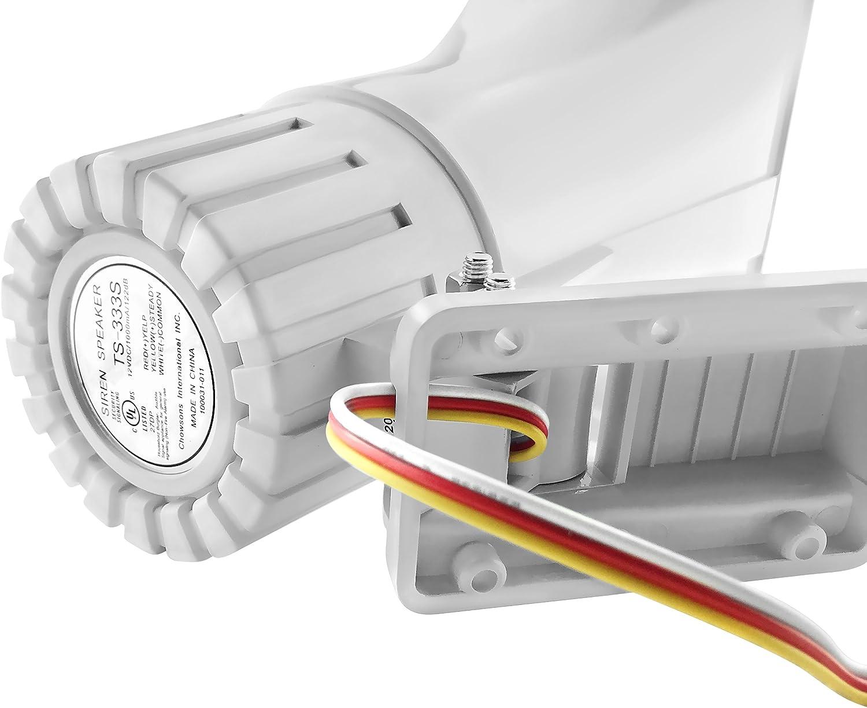 Yaegoo 30 Watt Siren Dual Tone Indoor//Outdoor Self-Contained Electric Security Siren SD-30W 6-12VDC 1.1Ah 120db 8 X 5.5 X 9 Inch