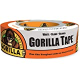 "Gorilla Tape, White Duct Tape, 1.88"" x 30 yd, White, (Pack of 1)"