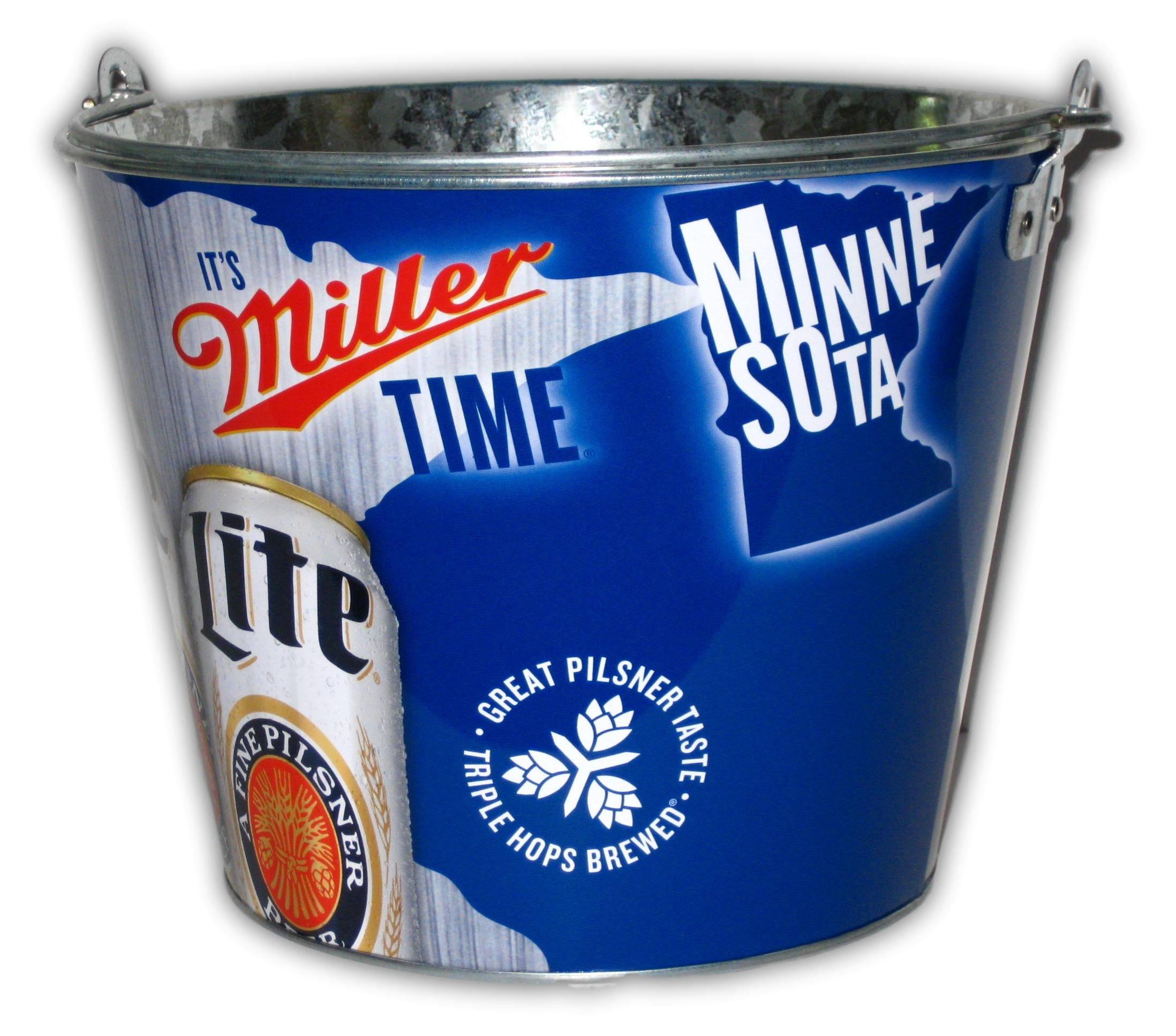 Miller Lite It's Miller Time Minnesota Beer Bucket