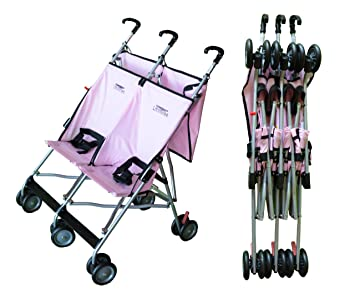Amazon.com : Lightweight Double Umbrella Stroller By Lmntree (Pink ...