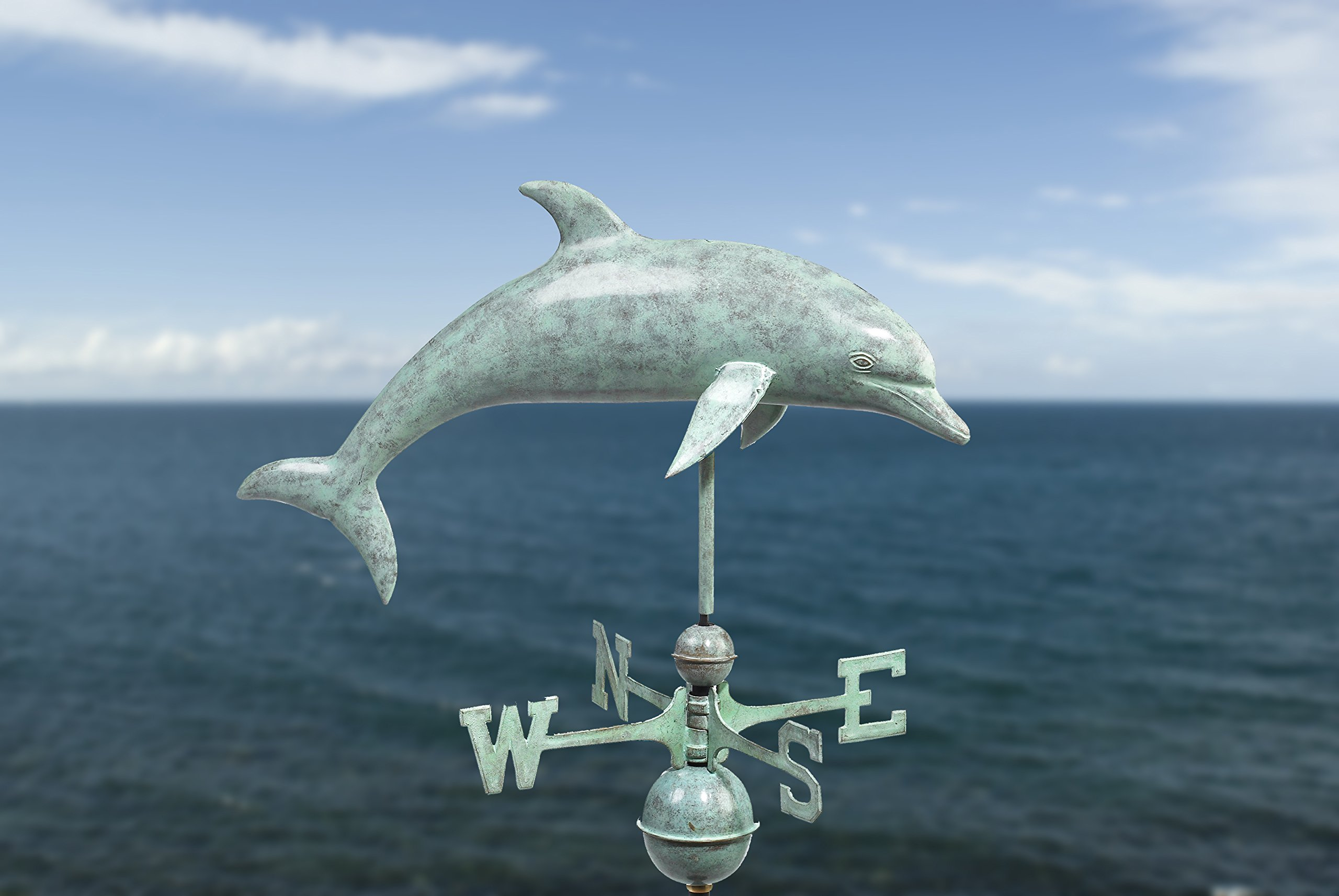 Good Directions Dolphin Weathervane, Blue Verde Copper by Good Directions (Image #2)