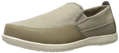 Crocs Men's Santa Cruz Deluxe M Slip-on Loafer, Khaki/Stucco, 7