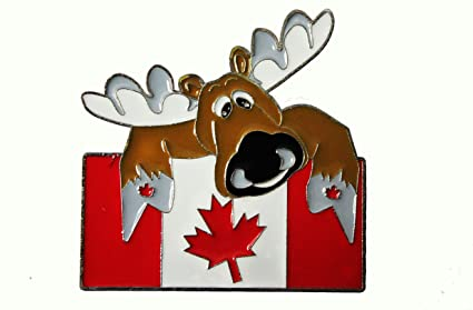 BIG MOOSE & CANADA Country Flag Magnet