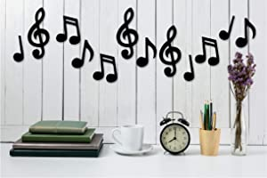 12 Matboard Music Notes - Largest 8.9 Inch - this is Not Vinyl Decal or Peel Stick - Easily Tak-iT-Up With Plasti-Tak Provided Removable Paintable Art Wall Decor Music Room Home College Dorm