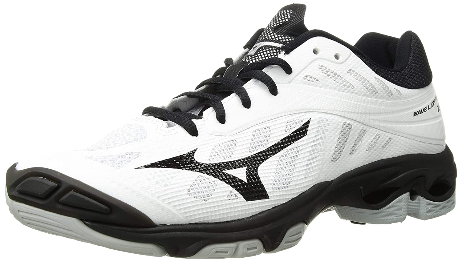 White Black Mizuno Women's Wave Lightning Z4 Volleyball shoes