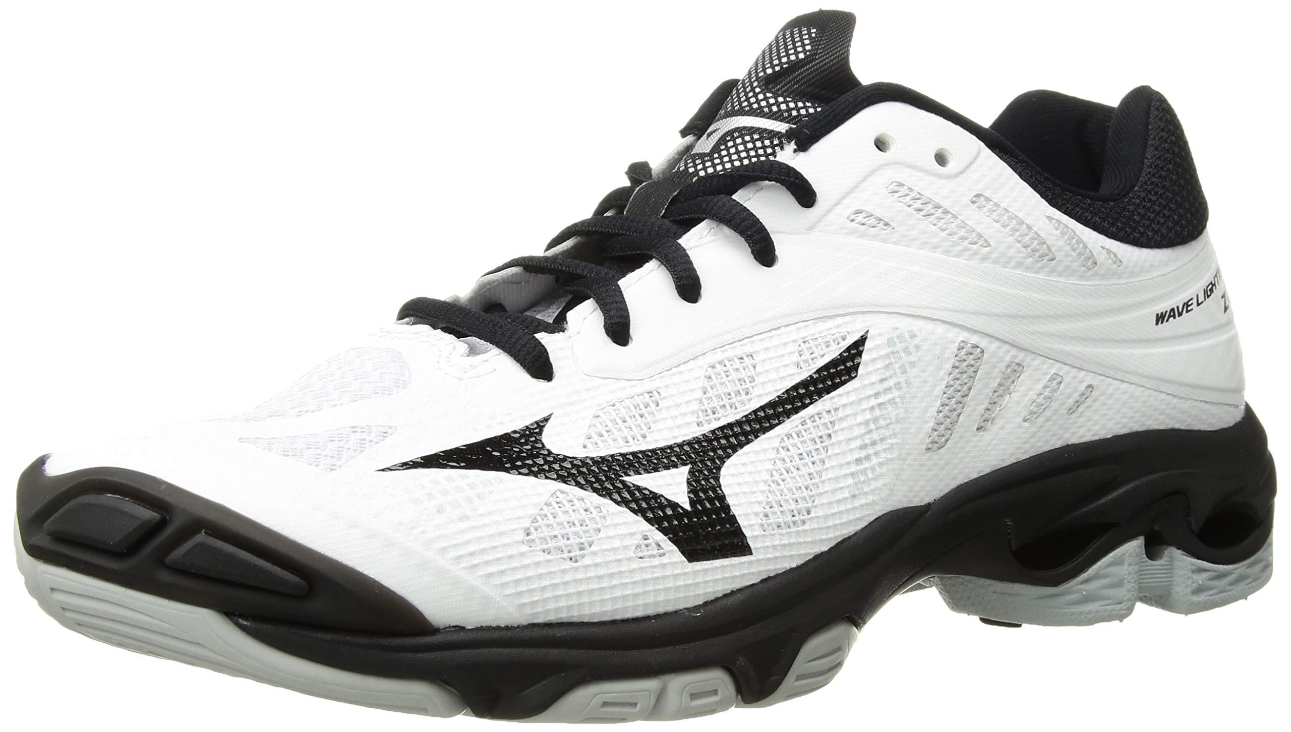 Mizuno Wave Lightning Z4 Volleyball Shoes, White/Black Women's 6 B US