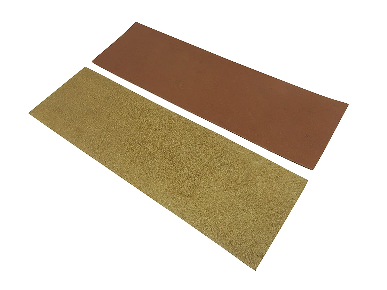 Taytools 469638 2 Piece French Leather Strop Kit for Custom Strops Suede and Smooth Pieces 3 x 10 Each Taylor Toolworks
