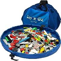 Lay-n-Go Building Block Mat, Building Block Bag Storage, Drawstring Bag, Playmat for Babies, Toddler's, Toy Storage Bag…