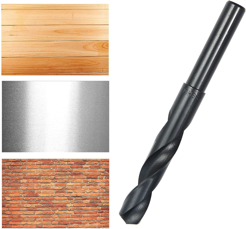 Bohrer Bohrersatz HSS-Stahl HSS Sprint Spiralbohrer 13,5-25mm Satz Metall Metallbohrer Stahlbohrer HSS mit reduziertem Schaft 15 mm Schwarz