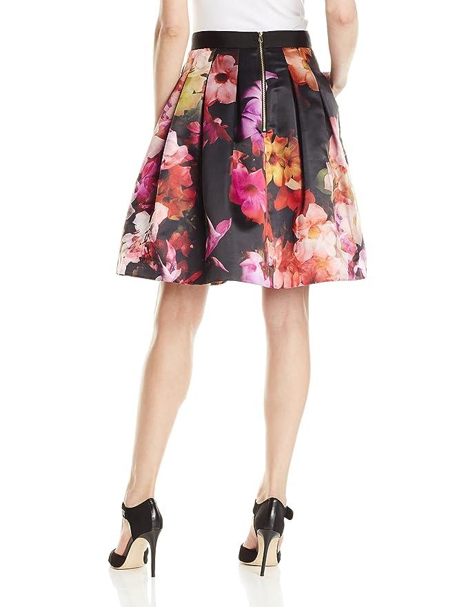 da5fe3dde Amazon.com: Ted Baker Women's Abaigh Cascading Floral Full Skirt, Black, 0:  Clothing